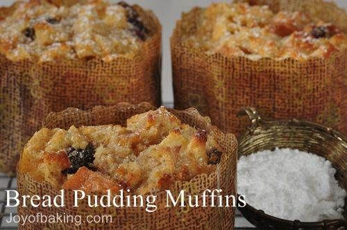 Bread Pudding Muffins Recipe I made this with just the apples because ...