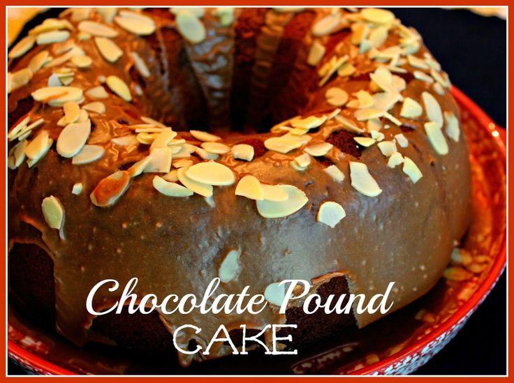 Sweet Tea and Cornbread: Old Fashioned Chocolate Pound Cake!