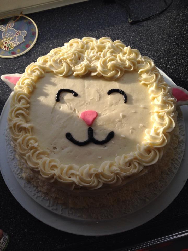 Easter cake( lamb ) | cakes | Pinterest