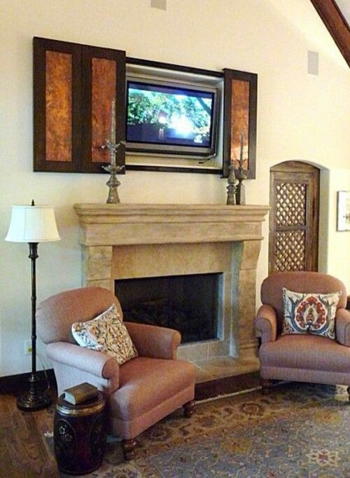 blend hide the television hide the t v pinterest. Black Bedroom Furniture Sets. Home Design Ideas