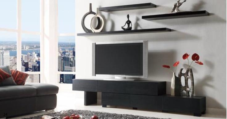 i like the floating shelves over the tv design pinterest. Black Bedroom Furniture Sets. Home Design Ideas