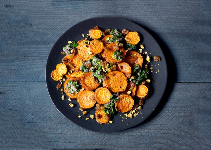 Roasted Yams with Citrus Salsa - Bon Appétit
