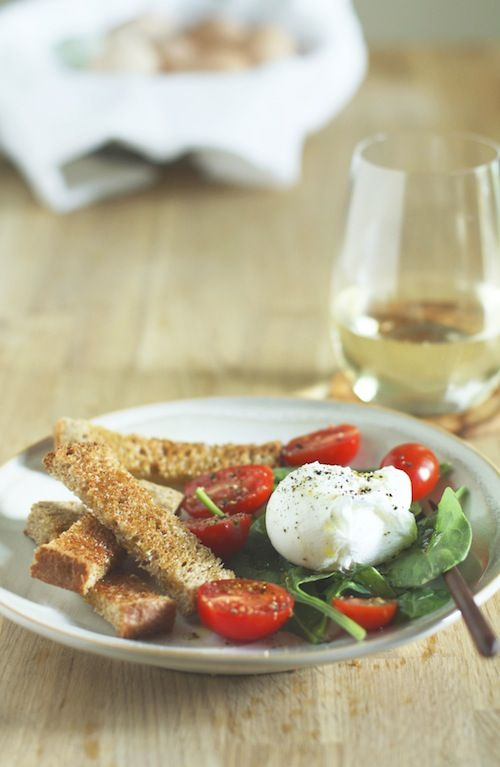 Easy Poached Egg Salad Recipe — Dishmaps