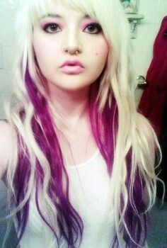 Blonde with pink underneath | Gorgeous Hair | Pinterest