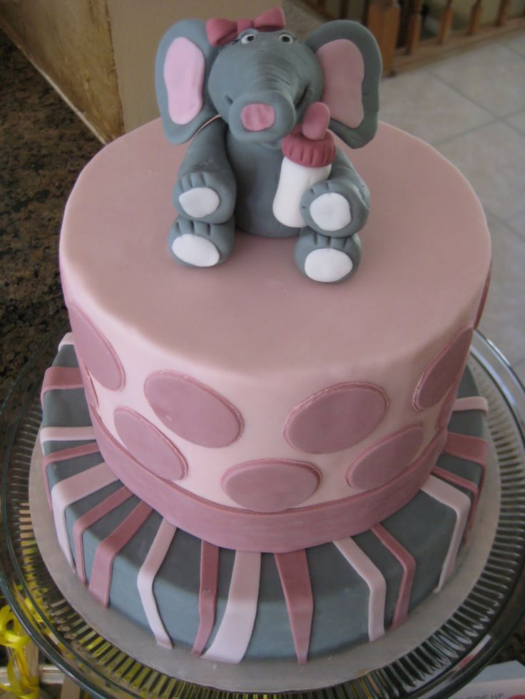 Baby Elephant Cake Decoration : Elephant Theme Cake Cakes and Cupcakes Pinterest