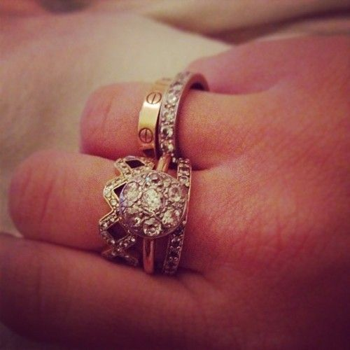 Vintage rings. LOVE the Cartier LOVE ring :)