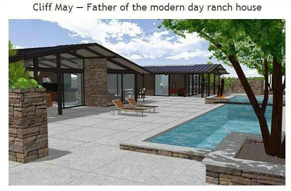 Cliff May Retro Ranch House Antique And Retro Pinterest