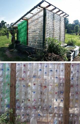 invernadero botellas plastico