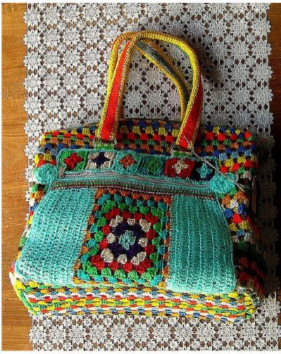 Crochet Granny Square Purse : granny square crochet bag Bags, pouches etc - crcoheted, knitted or ...