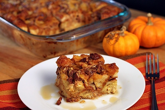 Pumpkin Pecan Croissant Bread Pudding....I love pumpkin anything!!