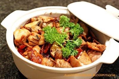 ... Bourdain: Claypot Chicken Rice with Lap Cheong (Chinese Sausage