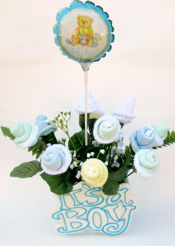 it 39 s a boy baby shower centerpiece baby boy gift baby boy flower ce