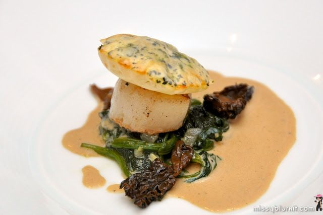 Seared Scallop + Sauteed Mushrooms, Wilted Greens, Truffle Oil ...