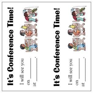Printable Parent Teacher Conference Reminder - e-biznes.info