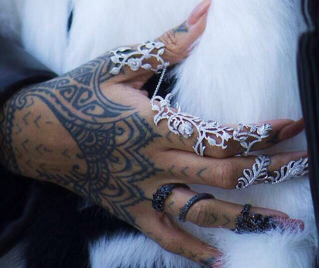 Henna Hand Tattoos Rih...