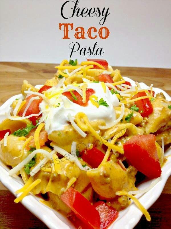 Cheesy Taco Pasta | Recipes to try | Pinterest
