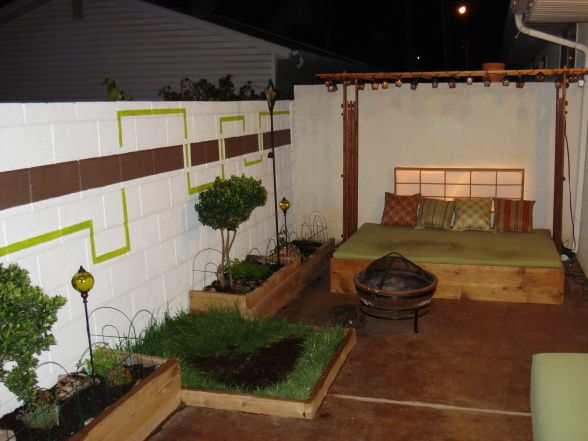 Cinder wall ideas | Garden features and decoration | Pinterest