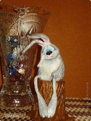 Заяц из папье-маше