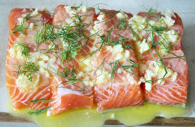 Salmon with Lemon, Dill and Garlic Butter: made this tonight on the ...