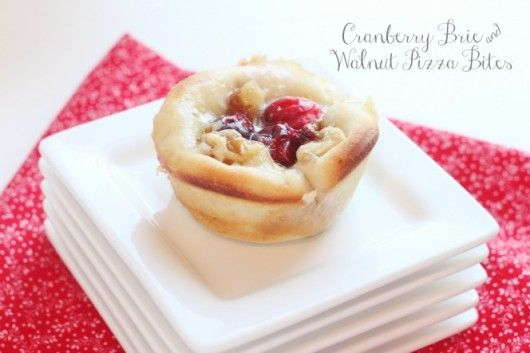 Cranberry Brie and Walnut Pizza Bites @createdbydiane