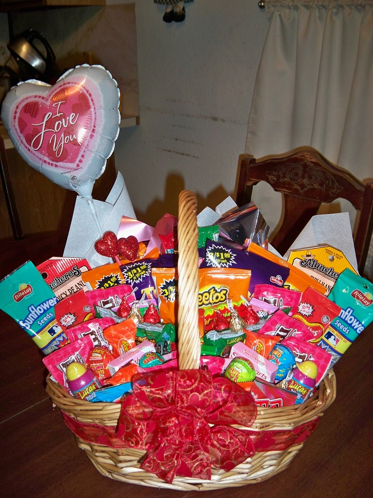 valentine's day basket for him ideas