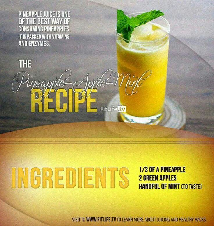 Pineapple apple mint juice | Greatest Vegetarian and Vegan Recipes ...
