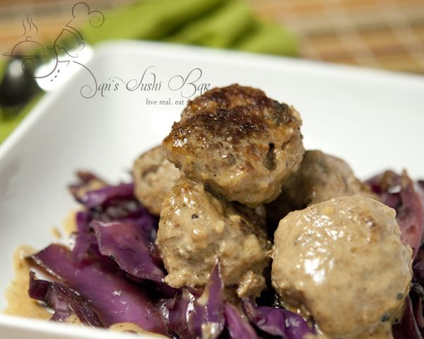 German-Style Meatballs - made these and the sweet and sour cabbage ...