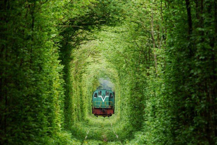 Secret Train Tunnel of Love In Ukraine