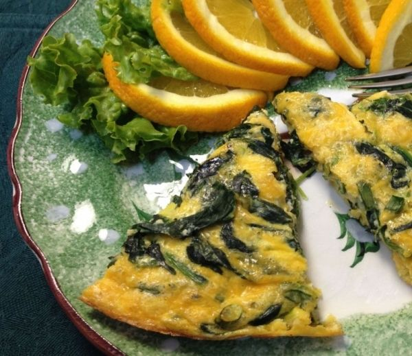 Crustless Spinach Quiche. By GoodVeg contributor Merrci. http://www ...