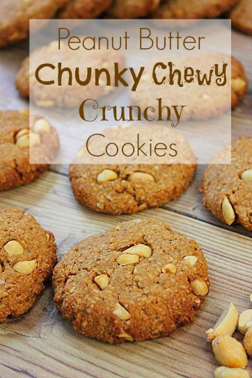 Chunky chewy peanut butter cookies! #glutenfree #vegan with peanut ...
