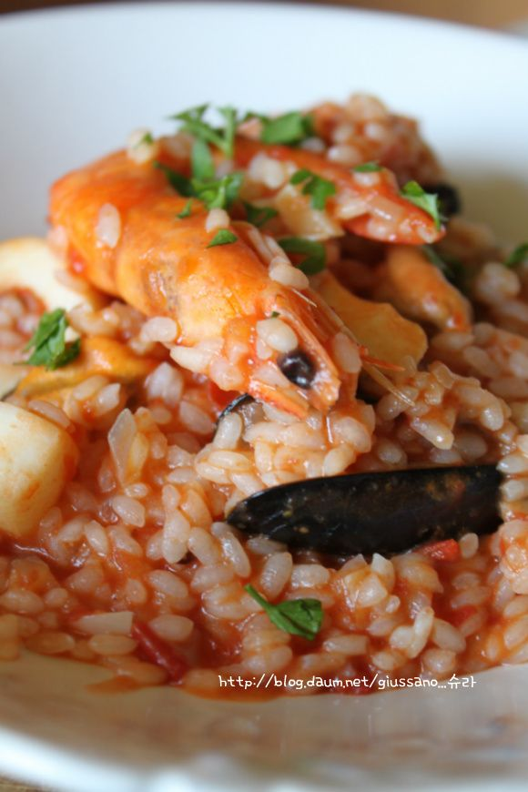 seafood risotto | scratchable | Pinterest