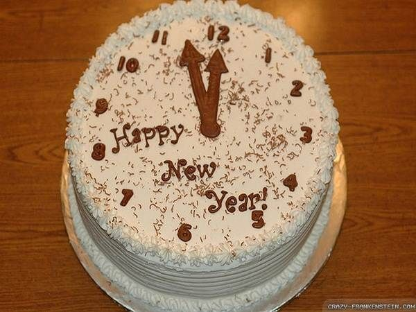 New Year Cake Images Hd : Clock Happy New Year Cakes Images Fashion Pinterest