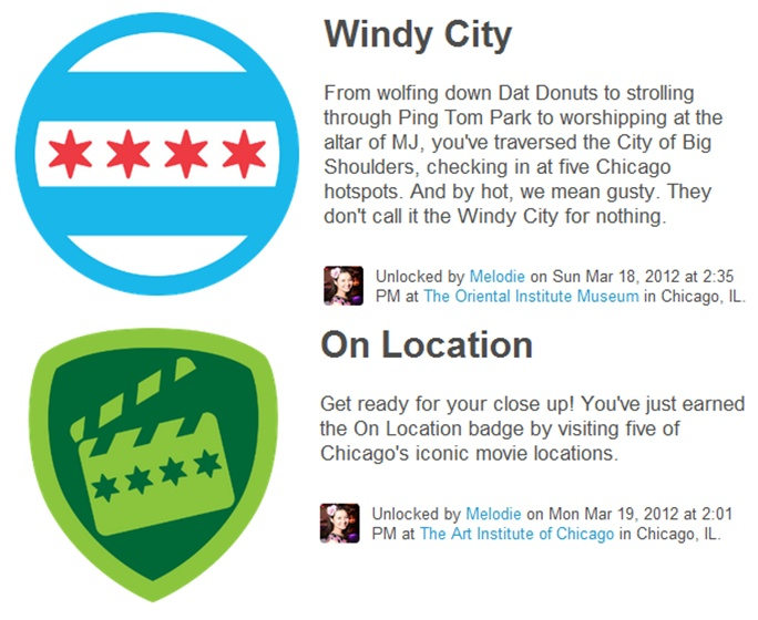 Because visitors love the four Foursquare badges that I wrote and produced. Read one visitor's blog post.