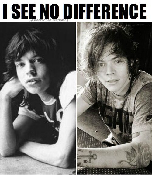 Young Mick Jagger Harry Styles Mick jagger & Harr...