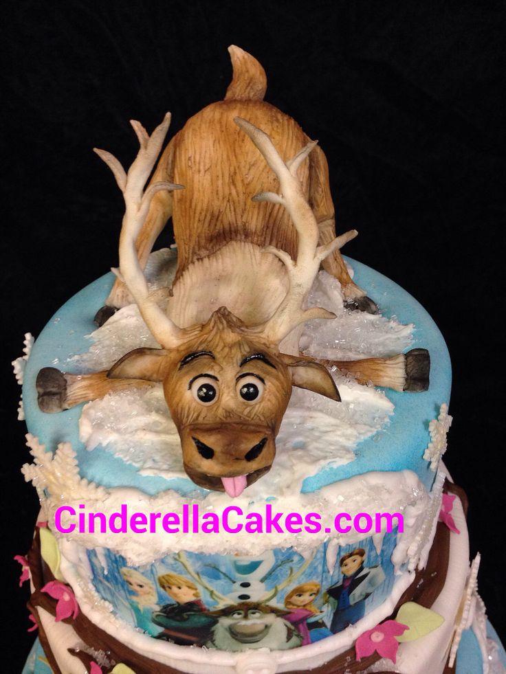 Frozen themed birthday cake  Childrens Birthday Cakes  Pinterest