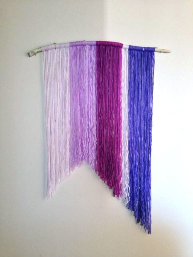 DIY Yarn Wall Hanging | DIY Projects | Pinterest