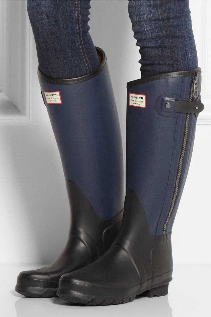 rag bone leather effect wellington boots. Black Bedroom Furniture Sets. Home Design Ideas