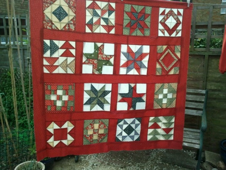 Sampler quilt top. | Quilting + Patchwork | Pinterest