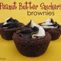 peanut butter snickers brownies   New Recipes to Try   Pinterest