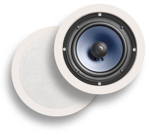 polk audio 2 way in ceiling speakers pair white 6 5 inch. Black Bedroom Furniture Sets. Home Design Ideas