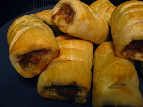 Sausage Rolls, or 'Pigs in a Blanket' [recipe] # Pin++ for Pinterest #