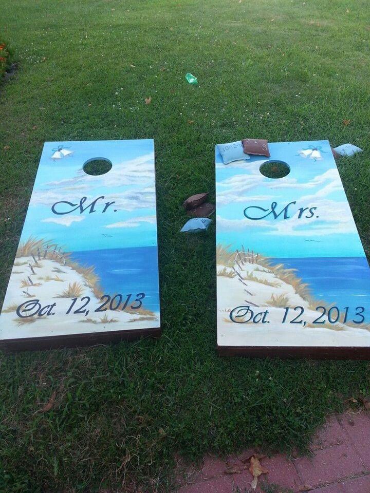 Wedding Cornhole Boards Wedding Pinterest