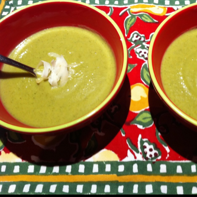 Cream of broccoli, sweet potato & spinach soup was a great, quick ...