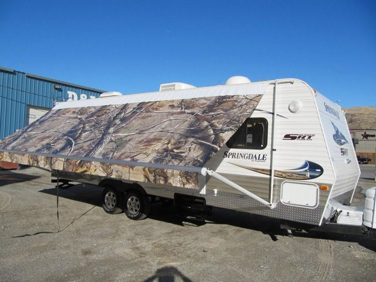realtree camo rv awning by fun in the shade custom rv