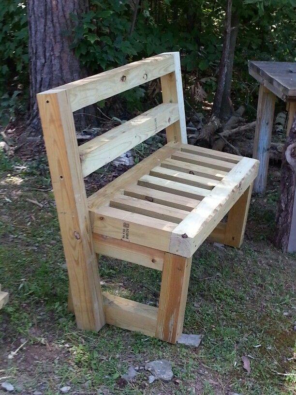 4x4 garden bench benches pinterest