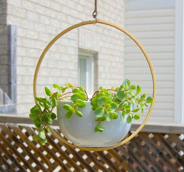 Un pot suspendu DIY  Extérieur / Outdoor  Pinterest
