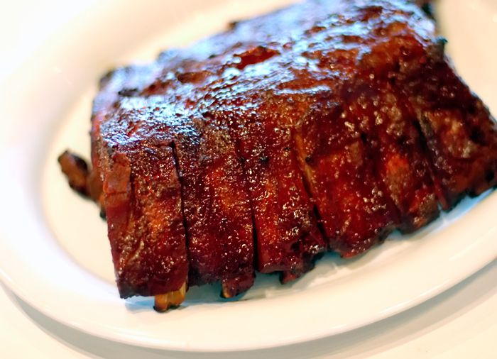 Sugar free BBQ sauce barbeque pork ribs