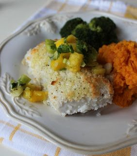 Coconut Crusted Mahi and Lime Sweet Potatoes