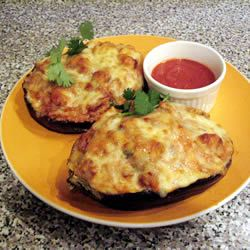 Sausage-Stuffed Eggplant - Bake 1/2 eggplant. scoop out insides and ...