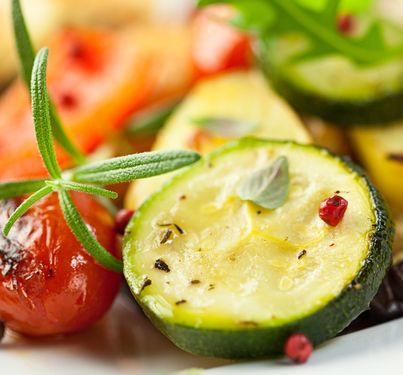 Moroccan Cumin Carrot Salad & Grilled Zucchini with Fresh Mint Recipes